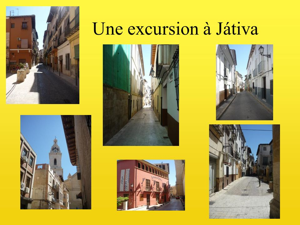 Une excursion à Játiva
