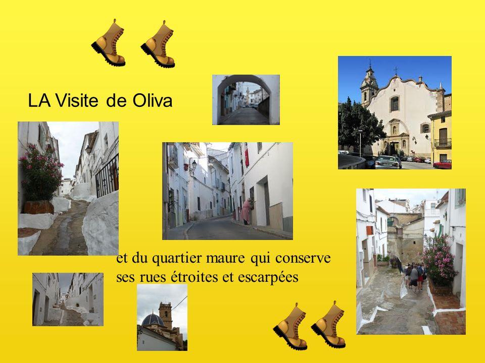 LA Visite de Oliva et du quartier maure qui conserve