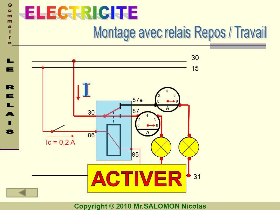 Montage avec relais Repos / Travail