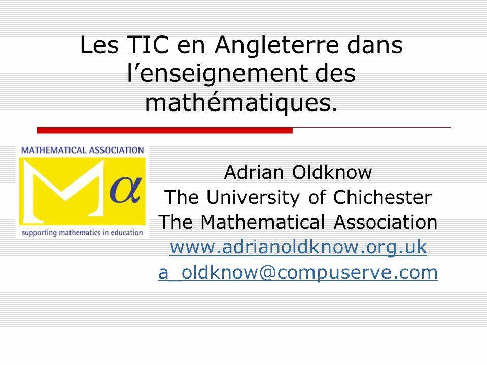 Les TIC en Angleterre dans l'enseignement des mathématiques.