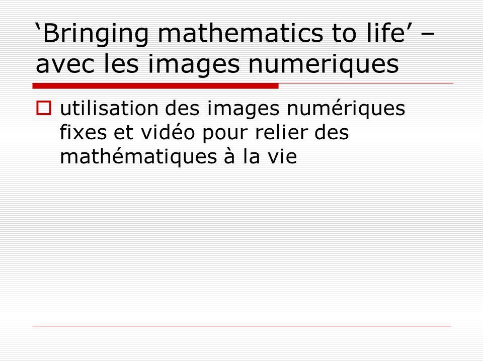 'Bringing mathematics to life' – avec les images numeriques
