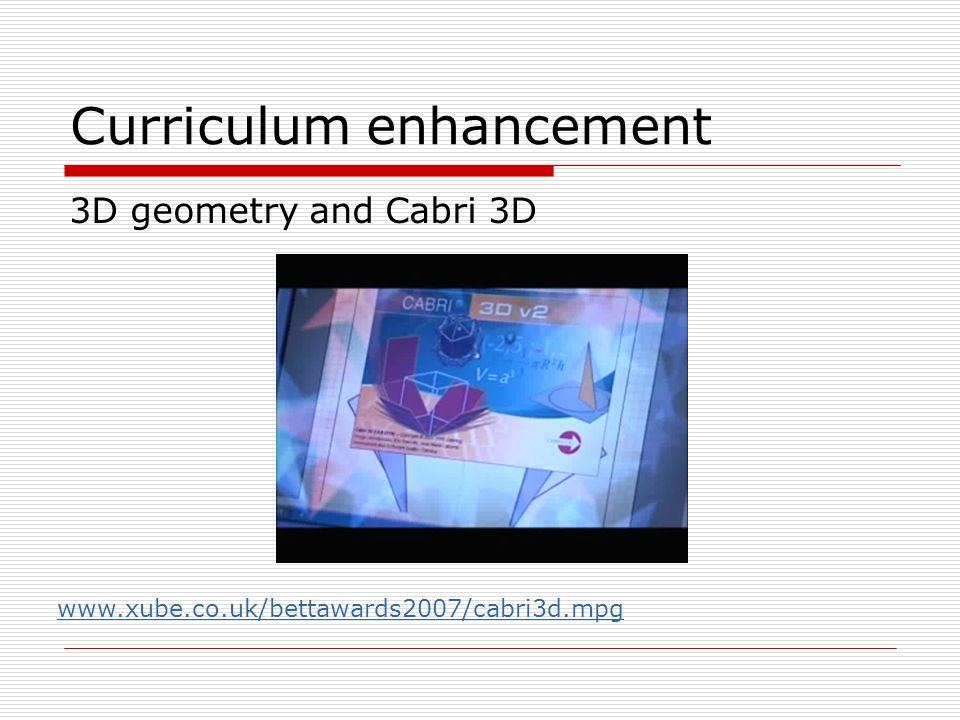 Curriculum enhancement