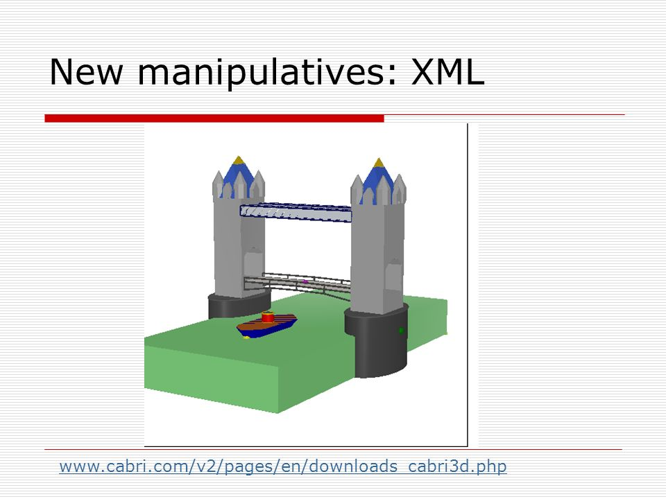 New manipulatives: XML