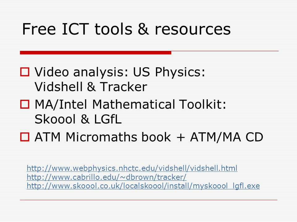 Free ICT tools & resources