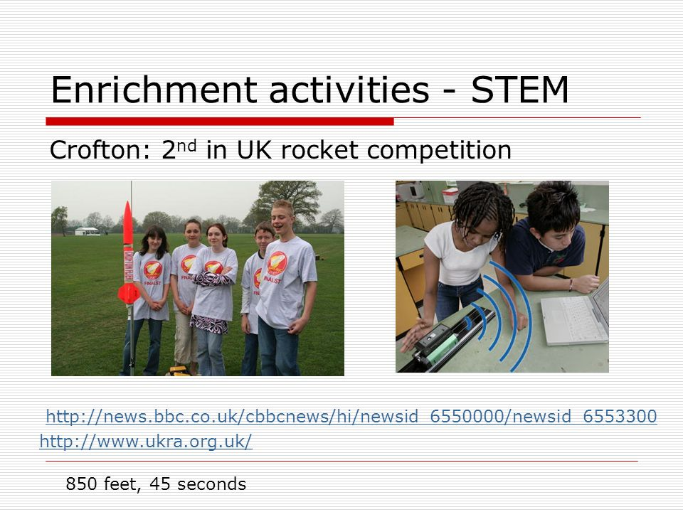 Enrichment activities - STEM