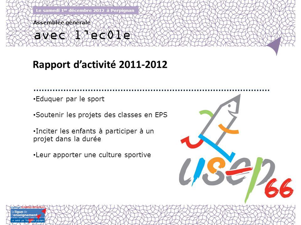 avec l'ecOle Rapport d'activité 2011-2012