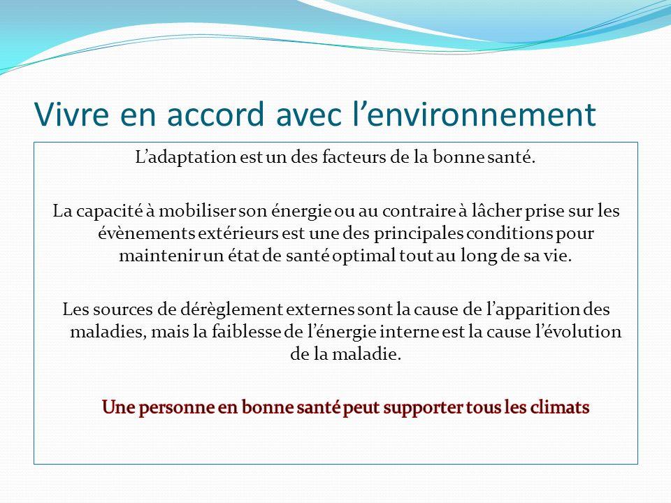 Vivre en accord avec l'environnement