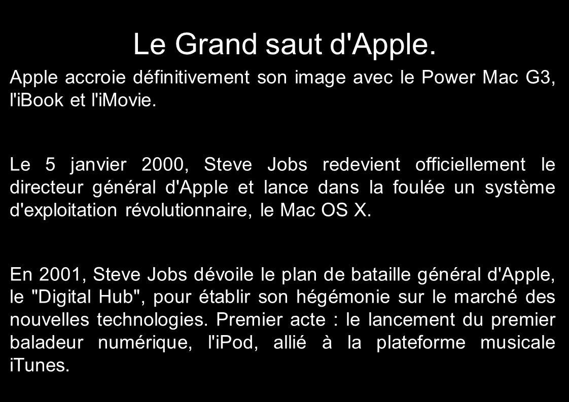 Le Grand saut d Apple. Apple accroie définitivement son image avec le Power Mac G3, l iBook et l iMovie.