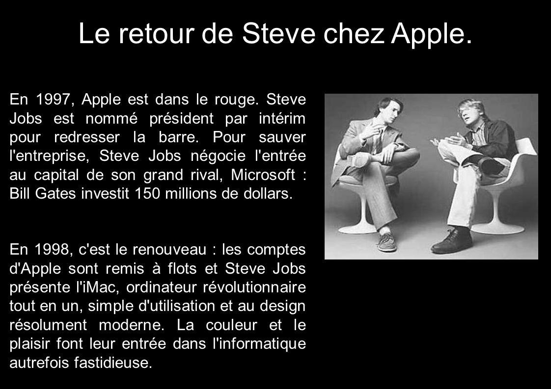 Le retour de Steve chez Apple.