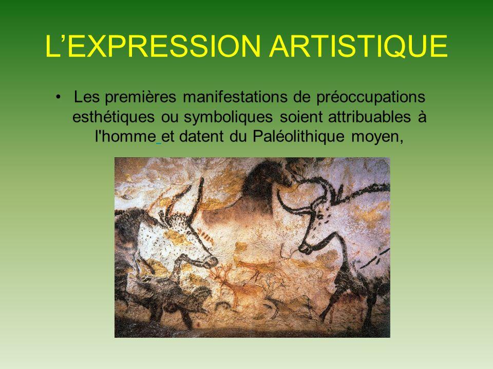 L'EXPRESSION ARTISTIQUE