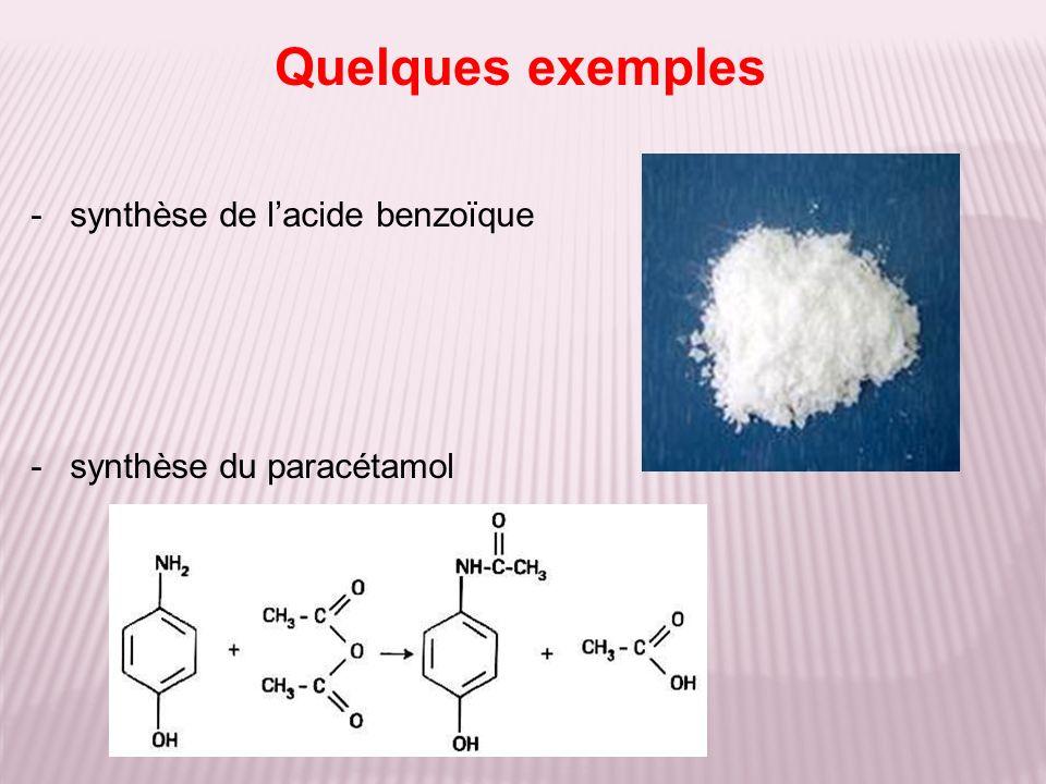 Quelques exemples synthèse de l'acide benzoïque
