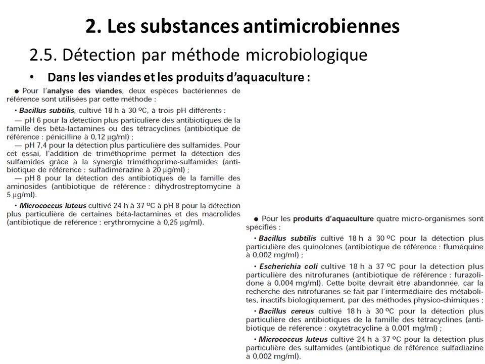 2. Les substances antimicrobiennes
