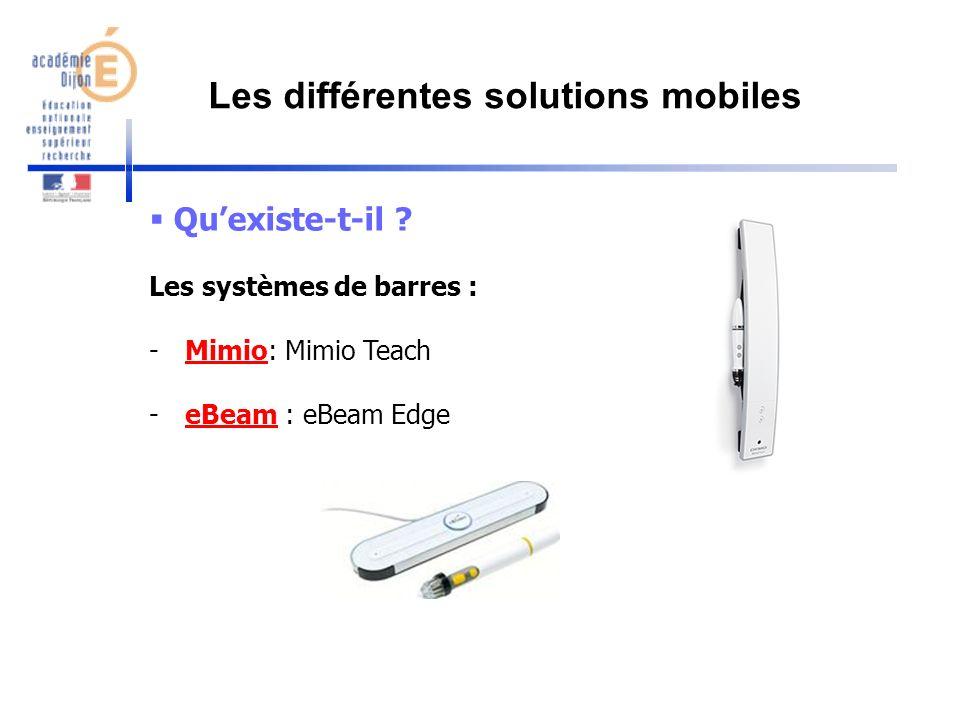 Les différentes solutions mobiles