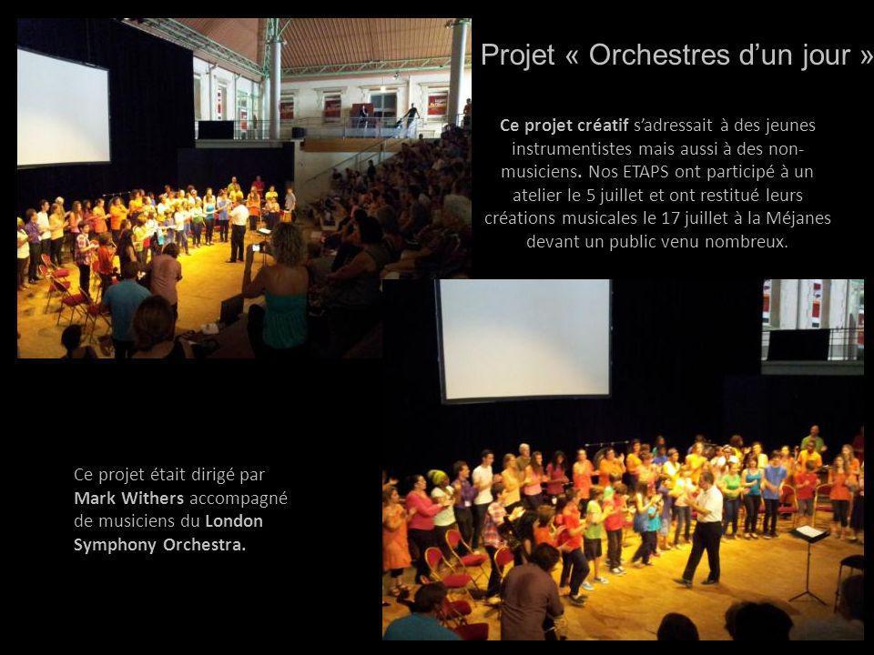 Projet « Orchestres d'un jour »