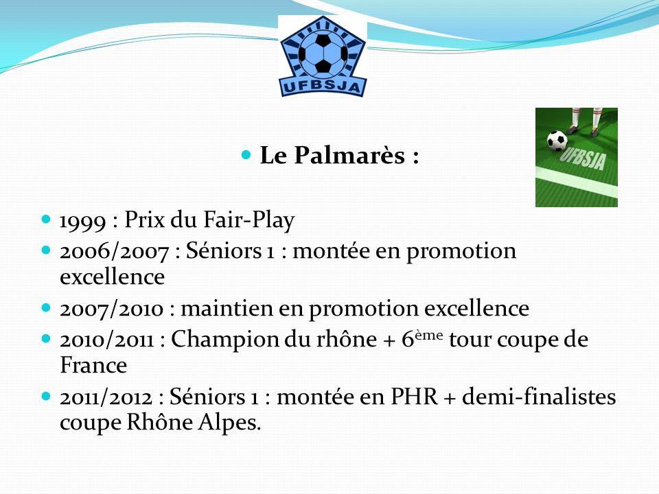 Le Palmarès : 1999 : Prix du Fair-Play