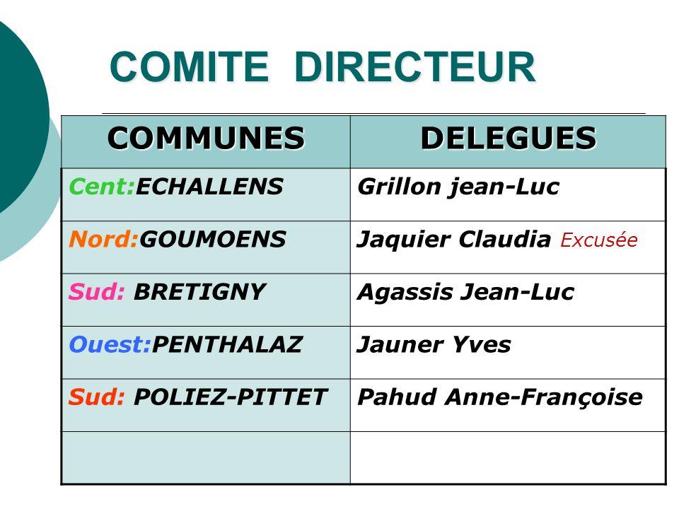 COMITE DIRECTEUR COMMUNES DELEGUES Cent:ECHALLENS Grillon jean-Luc