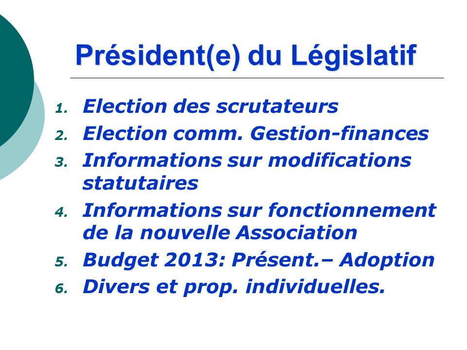 Président(e) du Législatif