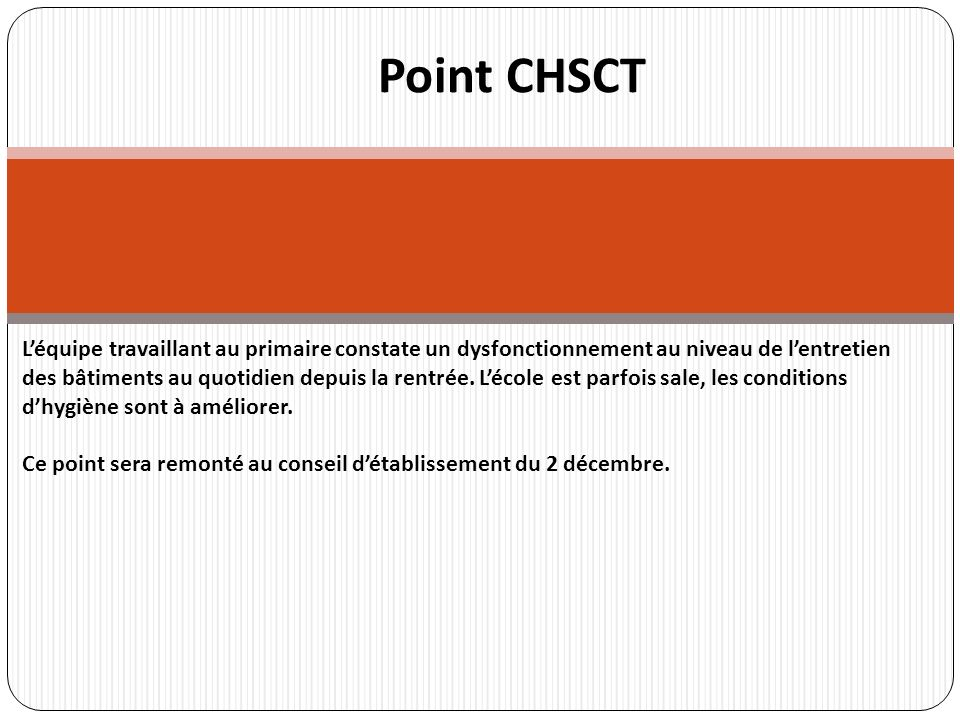 Point CHSCT