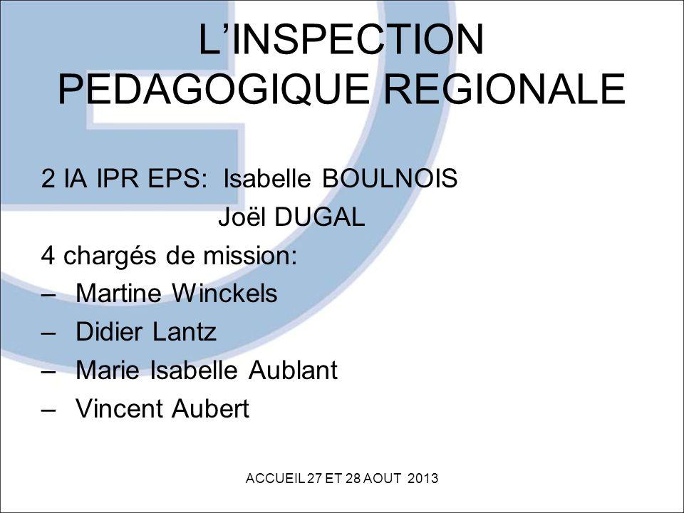 L'INSPECTION PEDAGOGIQUE REGIONALE