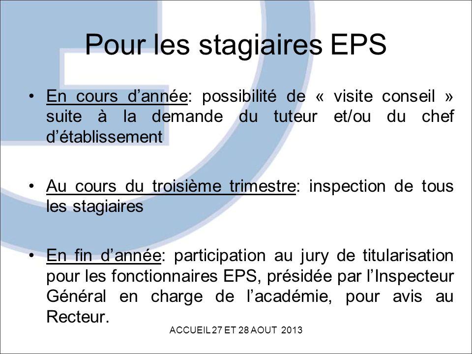 Pour les stagiaires EPS