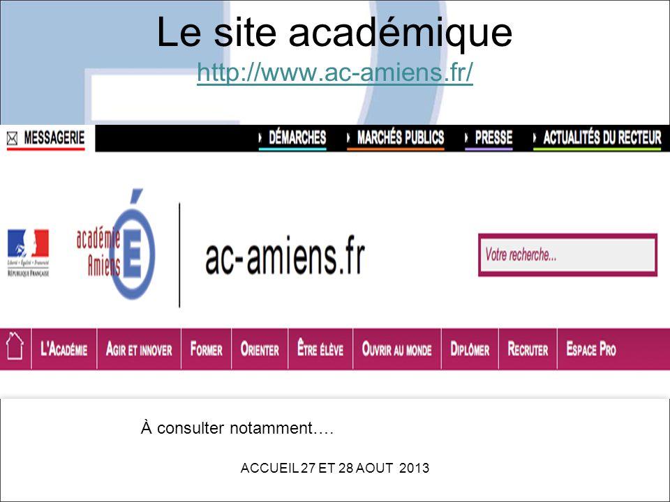 Le site académique http://www.ac-amiens.fr/