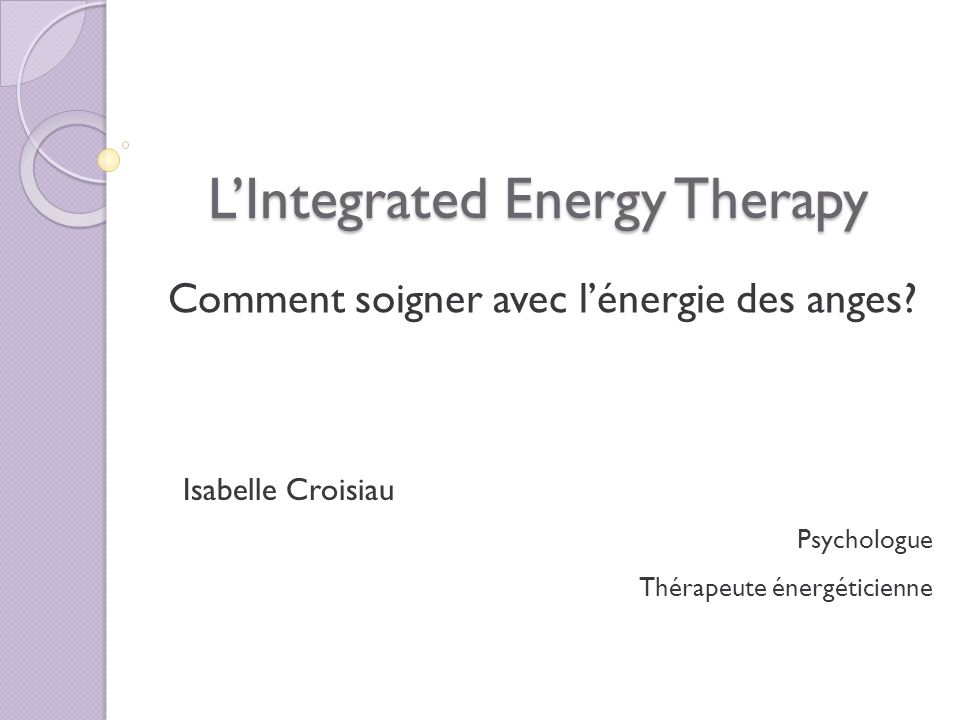 L'Integrated Energy Therapy