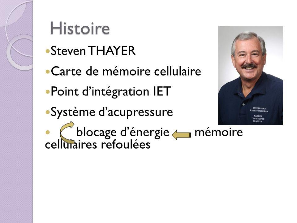 Histoire Steven THAYER Carte de mémoire cellulaire