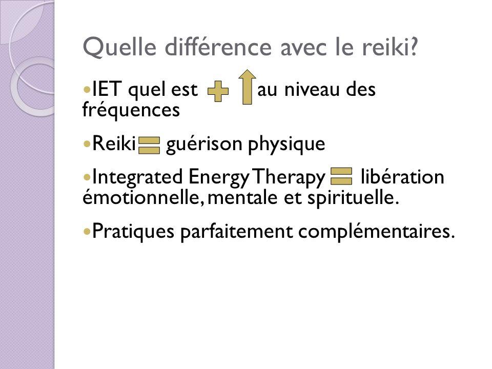 Quelle différence avec le reiki