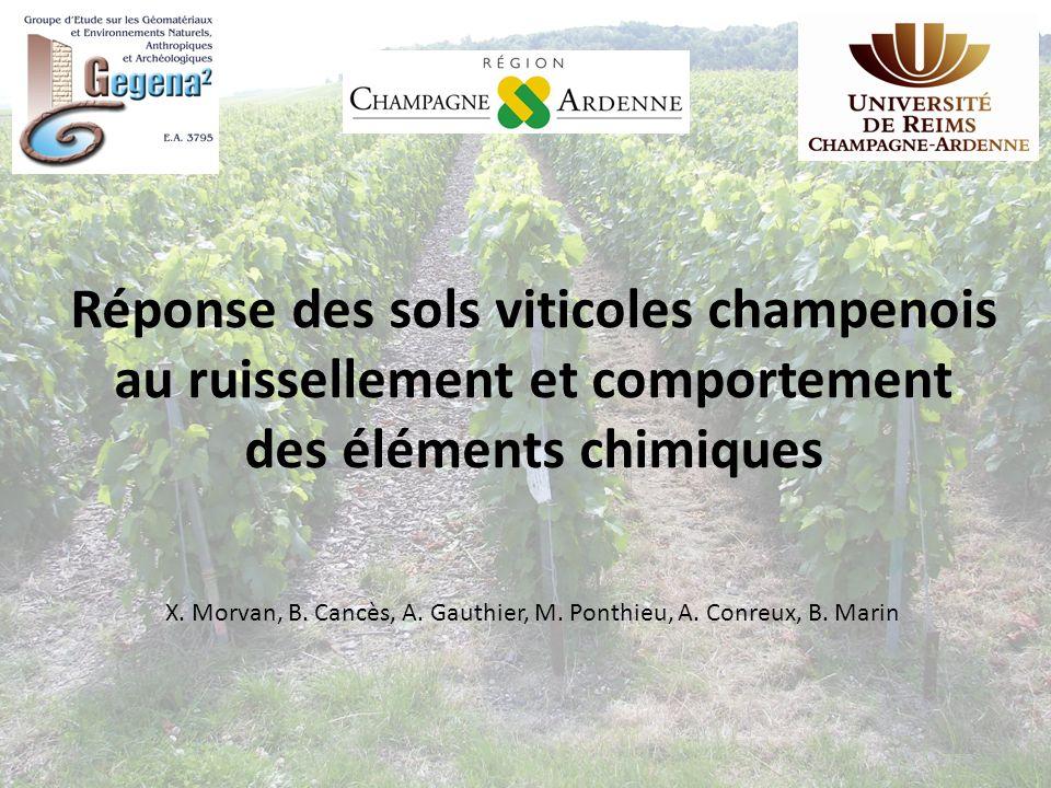 Réponse des sols viticoles champenois au ruissellement et comportement