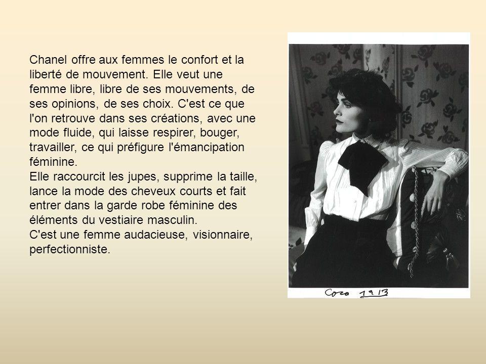 Chanel offre aux femmes le confort et la liberté de mouvement