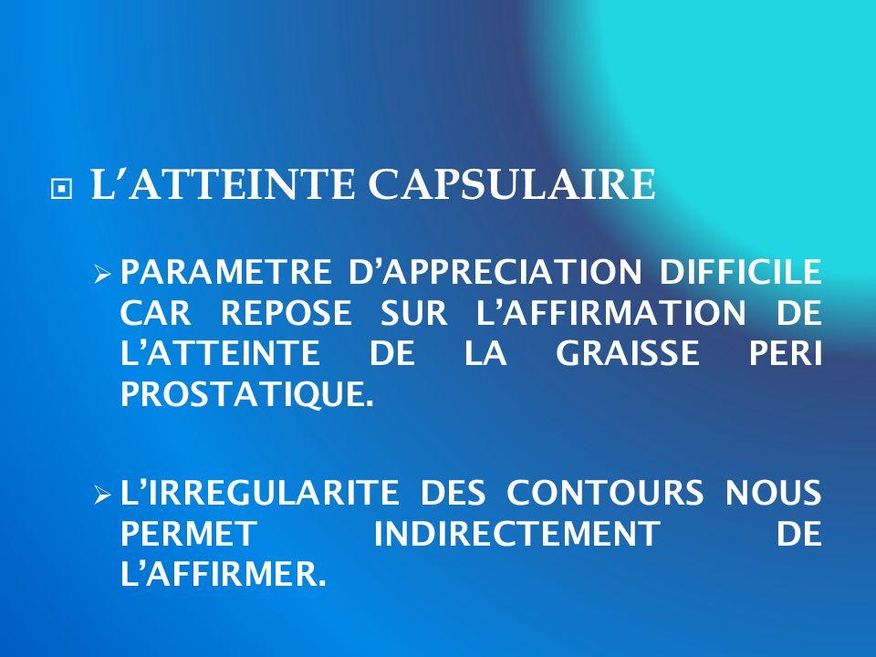L'ATTEINTE CAPSULAIRE