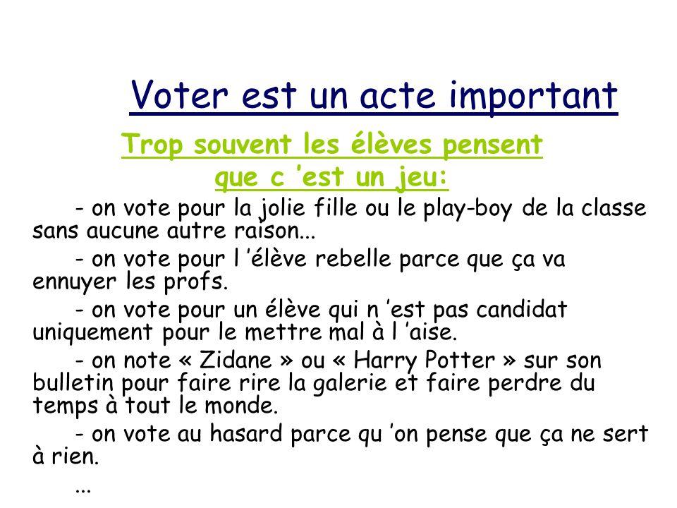 Voter est un acte important
