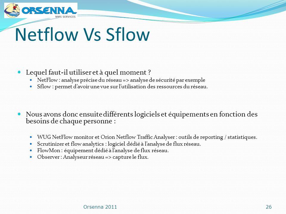 Netflow Vs Sflow Lequel faut-il utiliser et à quel moment