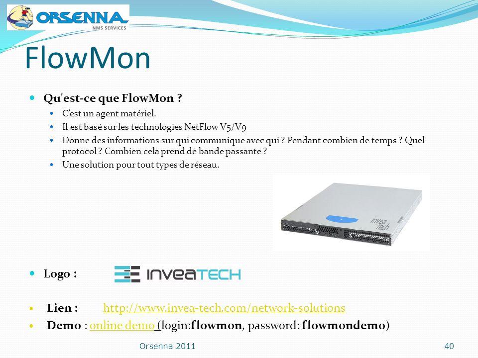 FlowMon Qu est-ce que FlowMon Logo :
