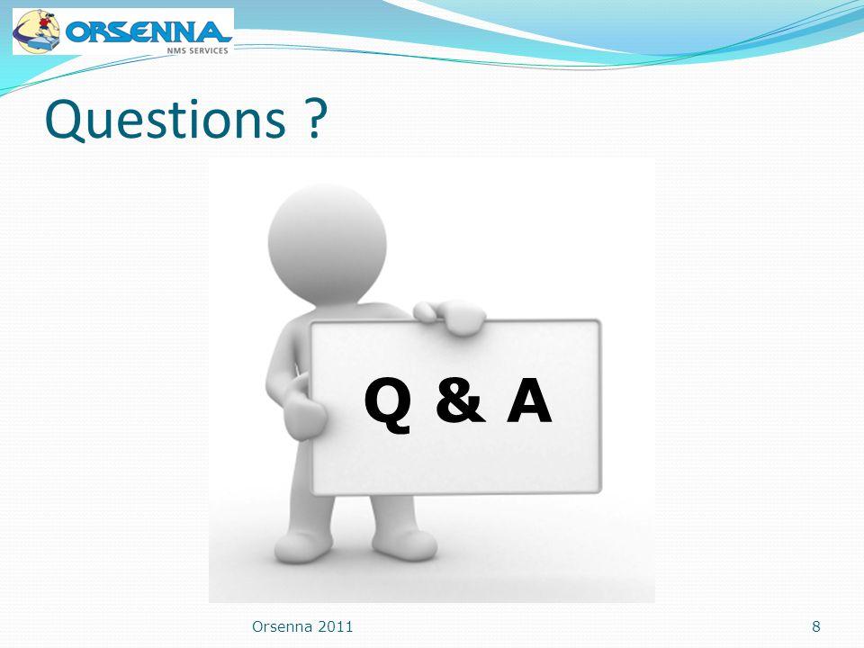 Questions Q & A Orsenna 2011