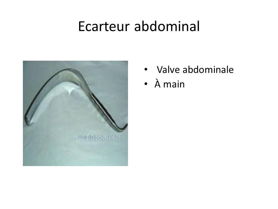 Ecarteur abdominal Valve abdominale À main