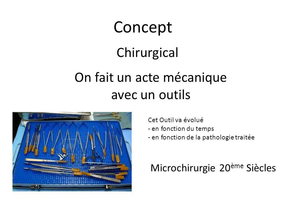 On fait un acte mécanique avec un outils