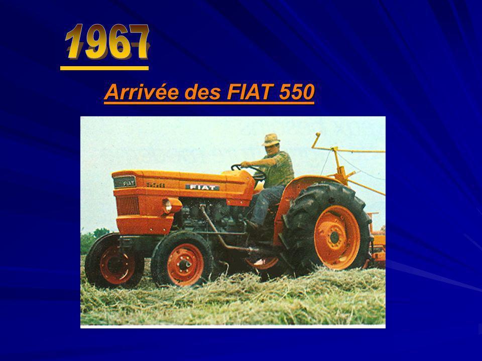 1967 Arrivée des FIAT 550