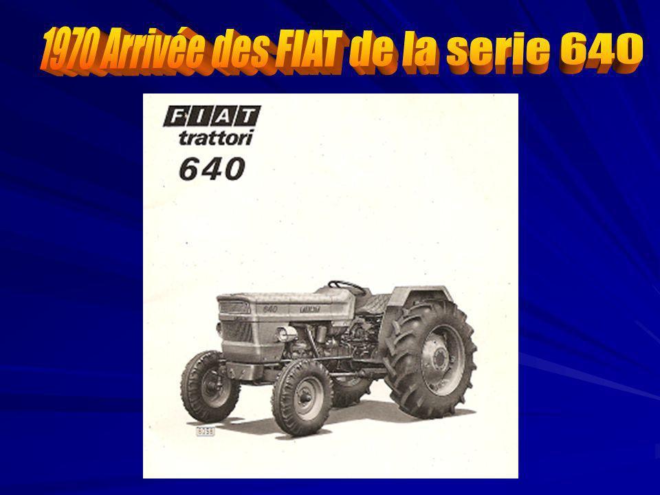 1970 Arrivée des FIAT de la serie 640