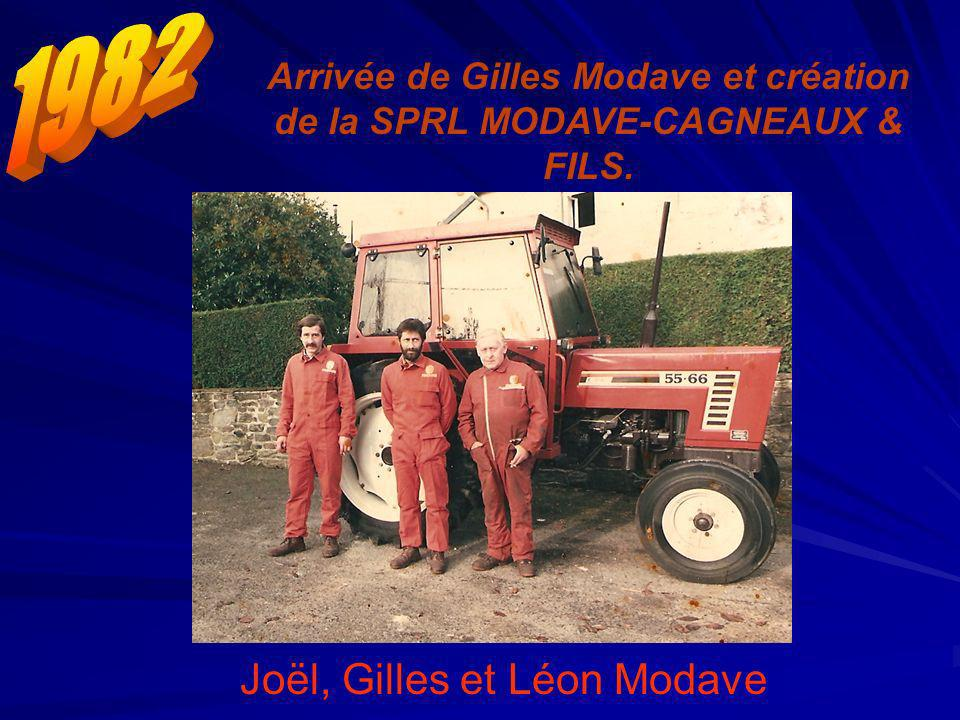 Joël, Gilles et Léon Modave