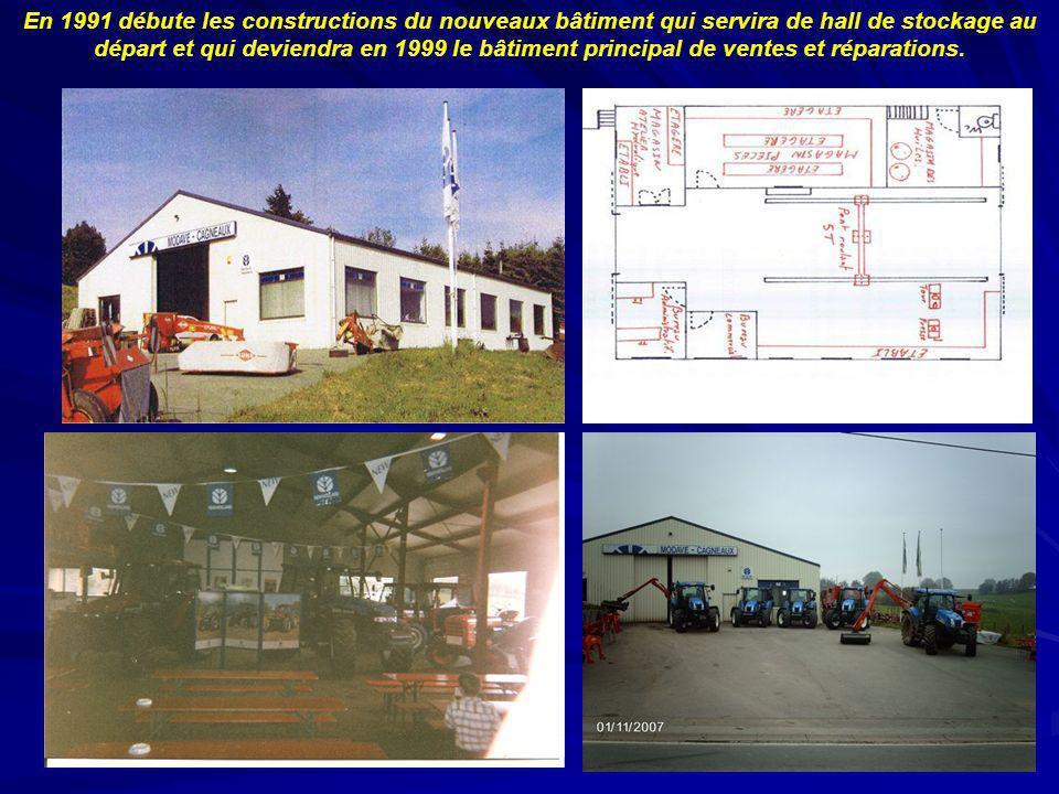 En 1991 débute les constructions du nouveaux bâtiment qui servira de hall de stockage au départ et qui deviendra en 1999 le bâtiment principal de ventes et réparations.