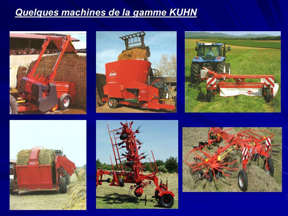 Quelques machines de la gamme KUHN