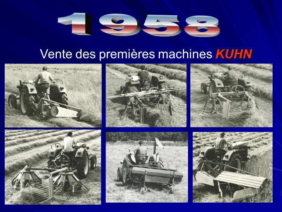 Vente des premières machines KUHN