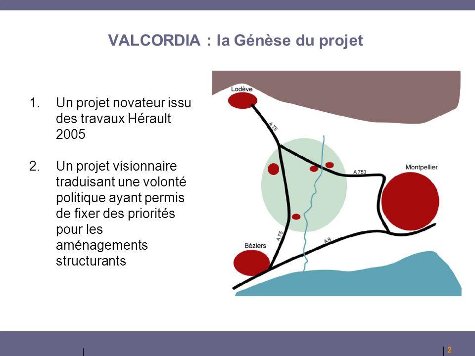 VALCORDIA : la Génèse du projet