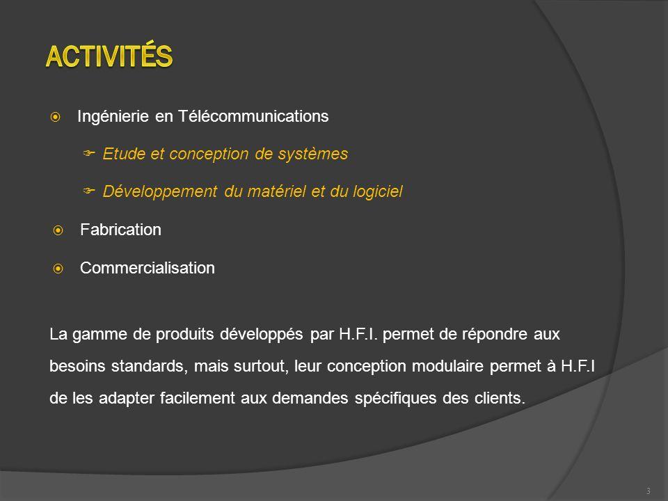 Activités Ingénierie en Télécommunications