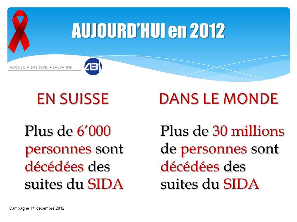 AUJOURD'HUI en 2012 EN SUISSE DANS LE MONDE
