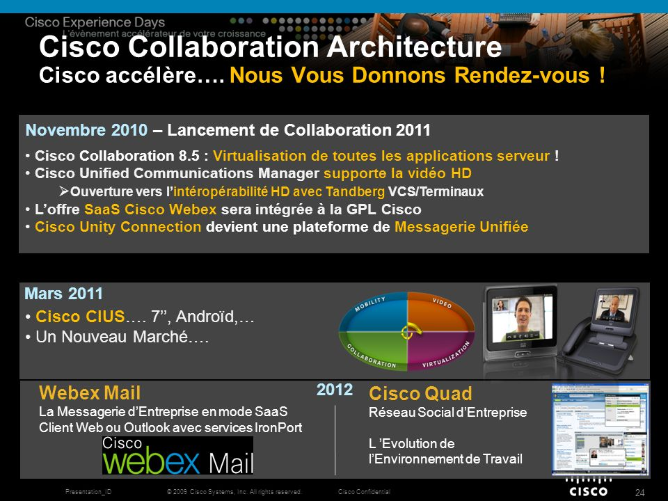 Cisco Collaboration Architecture Cisco accélère…
