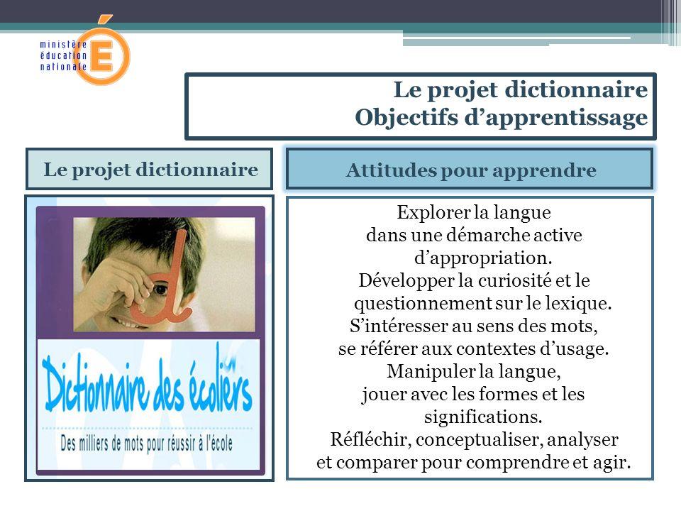 Le projet dictionnaire Attitudes pour apprendre