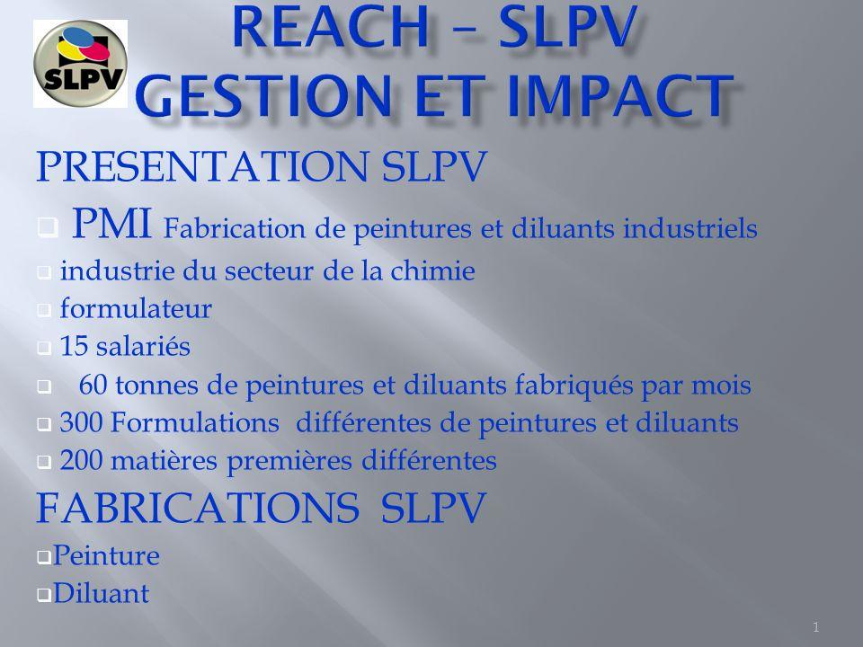 REACH – SLPV GESTION ET IMPACT
