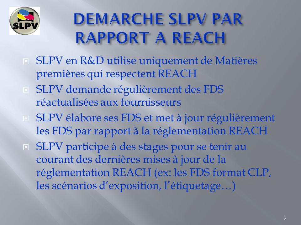 DEMARCHE SLPV PAR RAPPORT A REACH